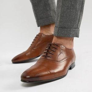 Ted Baker | Murain Leather Cap Toe Oxfords Brown